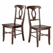Winsome Renaissance Key Hole Back Chairs, Walnut, 2/Pack (94208)
