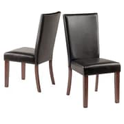 Winsome Johnson Faux-Leather Chairs, Espresso, 2/Pack (94237)