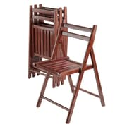 Winsome Robin Folding Chairs, Walnut, 4/Pack (94415)