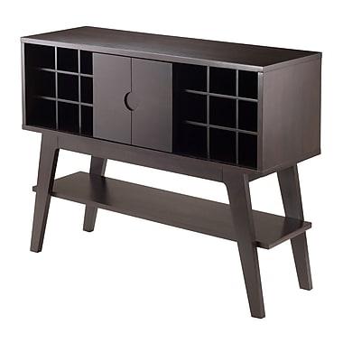 Winsome - Table console Monty de la collection Elite, avec support pour bouteilles de vin, fumée (23152)