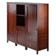 Winsome Brooke 3-Piece Jelly Cupboard Set, Walnut (94357)