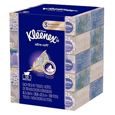 Kleenex Ultra Soft Tissues, 70 count, 10/pack