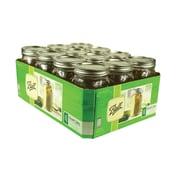 Fox Run Craftsmen Wide-Mouth Ball Mason Fridge Bin Canning Jars (Set of 12)