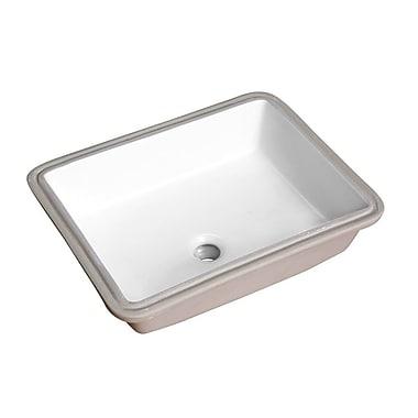 ANZZI Dahlia Series Rectangular Undermount Bathroom Sink w/ Overflow