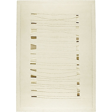 Hokku Designs Ambrose White Area Rug; 4'6'' x 6'6''