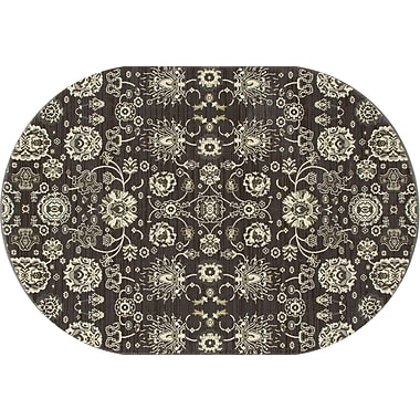 Art Carpet Maison Gray/Cream Area Rug; Oval 3'11'' x 6'1''