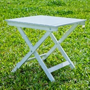 HRH Designs Square Side Table; White