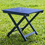 HRH Designs Square Side Table; Navy Blue