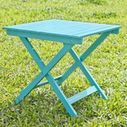 HRH Designs Square Side Table; Turquoise