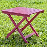 HRH Designs Square Side Table; Pink