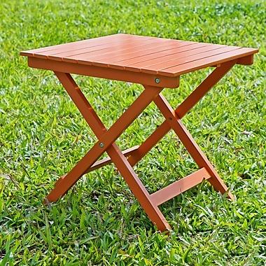 HRH Designs Square Side Table; Orange