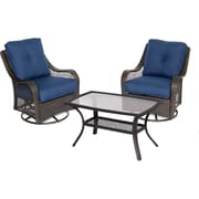 Hanover Orleans 7 Piece Deep Seating Group; Navy Blue