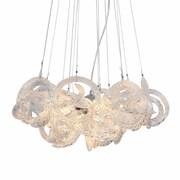 Viz Glass Infinity 5-Light Cluster Pendant; Clear