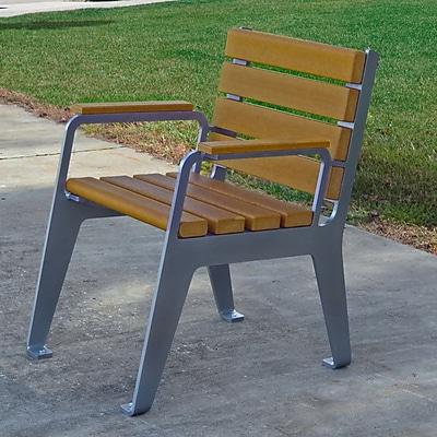 Frog Furnishings Plaza Patio Dining Chair; Cedar