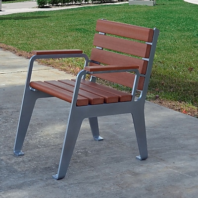 Frog Furnishings Plaza Patio Dining Chair; Red