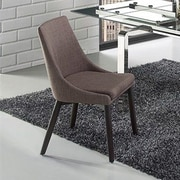 Casabianca Furniture Creek Side Chair in Linen - Dark Gray