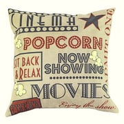 Lillowz Movie and Popcorn 100pct Cotton Throw Pillow