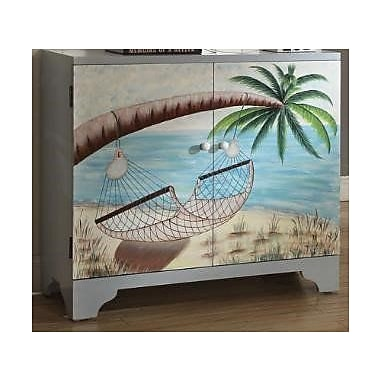 LampsPerSe Coastal 2 Door Accent Cabinet