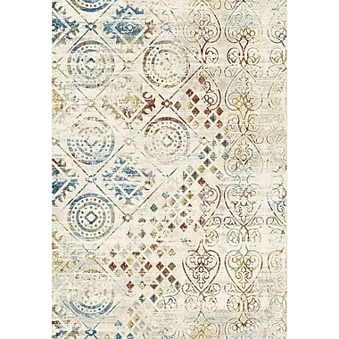 Dynamic Rugs Prism Ivory/Blue/Red Area Rug; 9'2'' x 12'10''