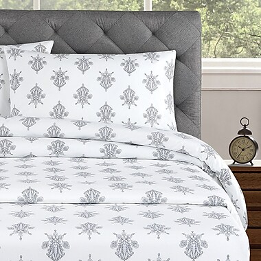 Echelon Home Arwen 250 Thread Count Cotton Percale Pillow Case (Set of 2)