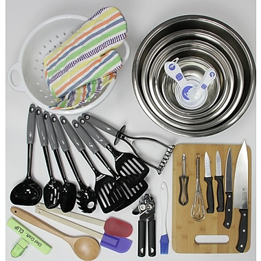Chef Craft 41 Piece My First Kitchen Starter Pack For Weddings Utensil Set