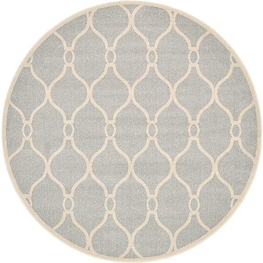 Charlton Home Moore Light Gray Area Rug; Round 8'