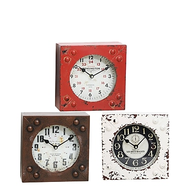 Selectives 3 Piece Station Table Clock Set