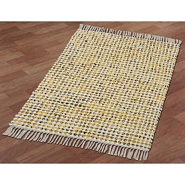 St. Croix Complex Hand-Loomed Yellow Area Rug; 1'9'' x 2'10''