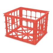 Homz Storage Plastic Crates (Set of 6); Coral