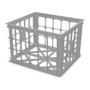 Homz Storage Plastic Crates (Set of 6); Gray