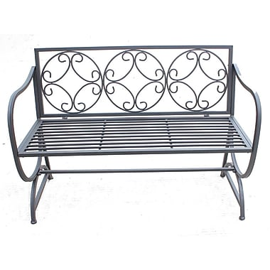 Hi-Line Gift Ltd. Metal Garden Bench