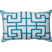 Pillow Perfect Adrian Embroidered Lumbar Pillow; Blue