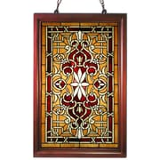 Warehouse of Tiffany Wood Frame Stained Glass Window Panel