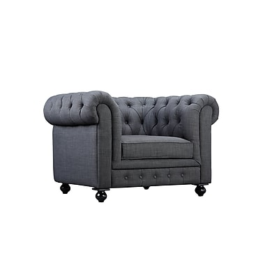 Darby Home Co Dolores Arm Chair; Grey