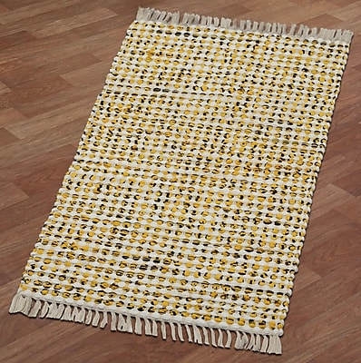 St. Croix Complex Hand-Loomed Yellow Area Rug; Runner 2' x 5'