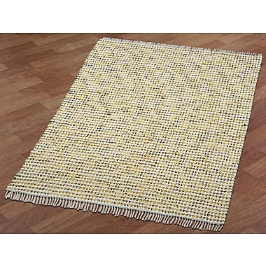 St. Croix Complex Hand-Loomed Yellow Area Rug; 4' x 6'