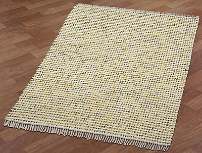 St. Croix Complex Hand-Loomed Yellow Area Rug; 5' x 8'