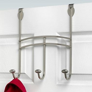 Spectrum Diversified Duchess 3 Hook Wall Mounted Coat Rack; Satin Nickel