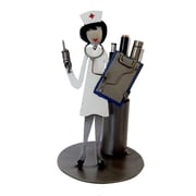 H & K SCULPTURES Nurse Sculpture Pen Holder