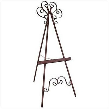 Red Barrel Studio Karol Hand-painted Wrought Iron Easel; Stone
