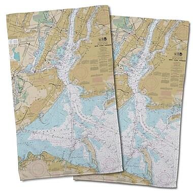 Longshore Tides Ellisburg New York Harbor, NY Hand Towel (Set of 2)