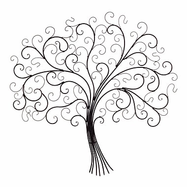 Fleur De Lis Living Iron Tree of Life Wall Decor