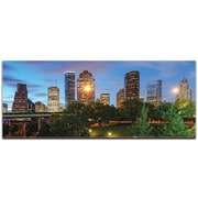 Houston City Skyline on Metal or Acrylic by Modern Crowd Urban Cityscape Enhanced Photo Print