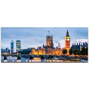 London Classic City Skyline on Metal or Acrylic by Modern Crowd Urban Cityscape Enhanced Photo Print