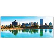 Memphis City Skyline on Metal or Acrylic by Modern Crowd Urban Cityscape Enhanced Photo Print
