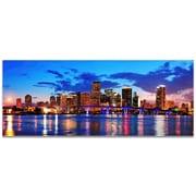 Miami City Skyline on Metal or Acrylic by Modern Crowd Urban Cityscape Enhanced Photo Print