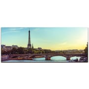 Paris Classic City Skyline on Metal or Acrylic by Modern Crowd Urban Cityscape Enhanced Photo Print