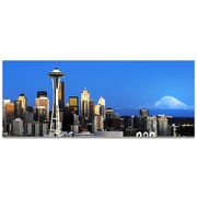 Seattle City Skyline on Metal or Acrylic by Modern Crowd Urban Cityscape Enhanced Photo Print