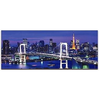 Tokyo City Skyline on Metal or Acrylic by Modern Crowd Urban Cityscape Enhanced Photo Print