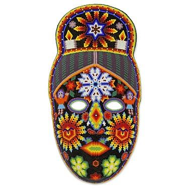 Novica Fair Trade Huichol Mask Wall D cor